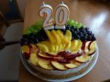 Ovocný dort ke dvacetinám recept