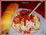 Zeleninový salát s opečenou slaninkou recept