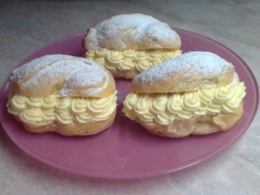 Pudinkáče s vanilkovým krémem