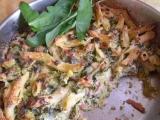 Úklid sýrů  penne s brokolicí a medvědem recept