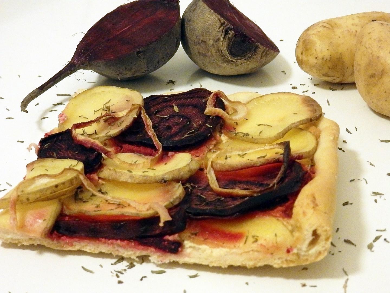 Koláč s řepou a bramborami recept