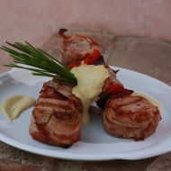 Panenka se slaninou a omáčkou z anglické hořčice recept