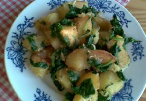 Špenátové brambory  příloha