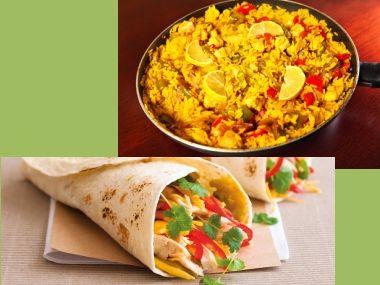 Recepty na kuřecí paellu a burritos