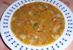 Čočková polévka ze zbylé čočky na kyselo