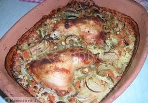 Kuře v rýži a v římském hrnci