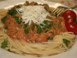 Špagety se smetanovo-tuňákovým přelivem recept