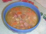 Hrstková polévka s uzenou krkovičkou recept