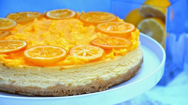 Citronový cheesecake s krémem Lemon curd