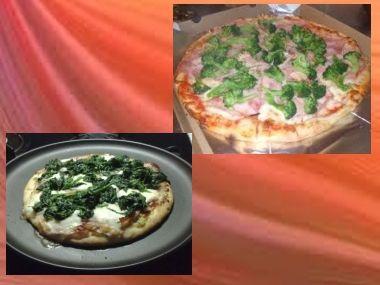 Pizza Brokolicová a Špenátová