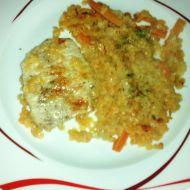 Červená čočka s křehkým vepřovým steakem recept