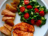 Kuřecí steak a salát s polničkem recept