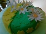 Květinový narozeninový dort recept