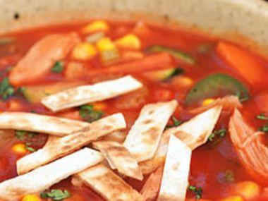 Recept Mexická polévka Maya