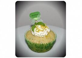 Bazalkovo citronové muffiny / cupcaky recept