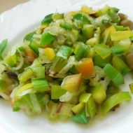 Zdravý zelený salát recept