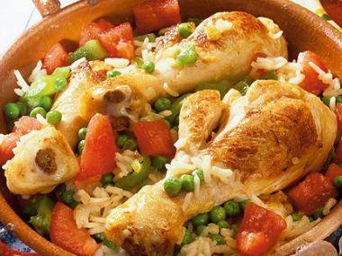 Kuře pečené se zeleninou a rýží