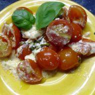 Pečená cherry rajčátka s žervé recept