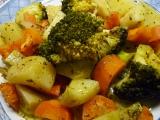 Brokolice, mrkev, brambory v páře a MW recept