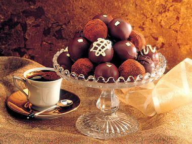 Čokoládové lanýže s kávou
