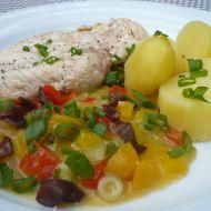 Přírodní kuřecí plátky s paprikami recept