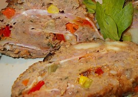 Mozaiková sekaná, plněná mozzarellou a anglickou slaninou recept ...