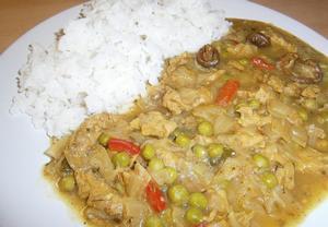 Veganský indický sójový guláš