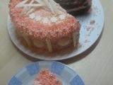 Růžový dort recept