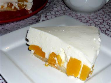 Broskvový nepečený dortík