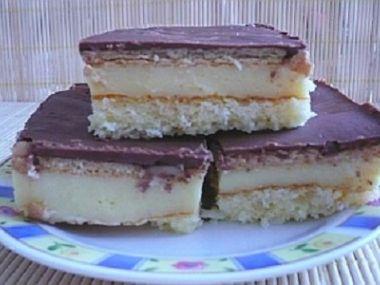 Pudinkovo smetanová buchta s čokoládou