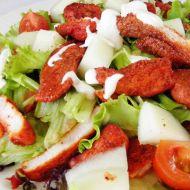 Zeleninový salát s grilovanými krůtími kousky recept