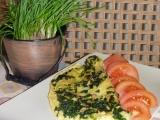 Omeleta s medvědím česnekem recept