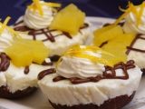 Tvarohové nepečené mufiny s ananasem recept