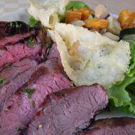 Hovězí flank steak se zeleninou recept