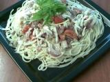Špagety se smetanovou omáčkou recept