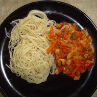 Levné špagety se salámem recept