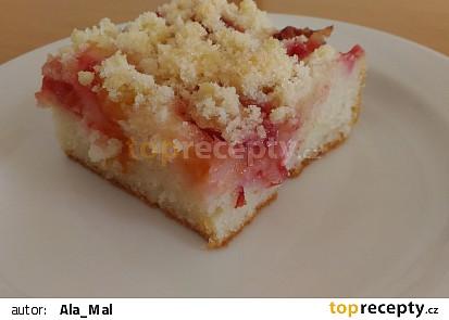 Jogurtový koláč s rynglemi recept
