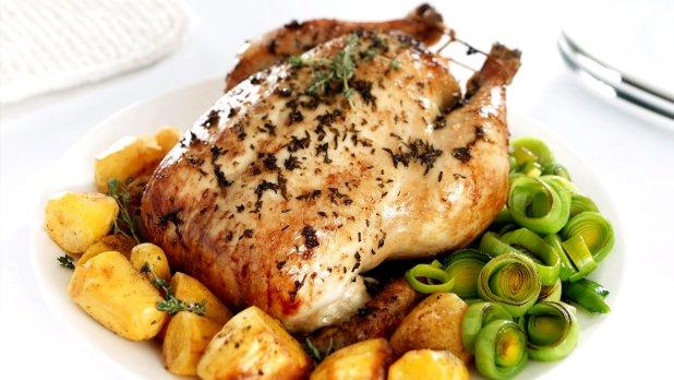 Pečené kuře s citronem a tymiánem