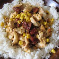 Kuře na rajčatech a kukuřici recept