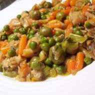 Pálivá treska na zelenině recept