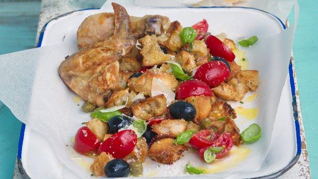 Kuřecí panzanella