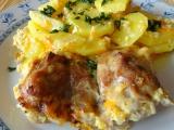 Kuřecí stehna zapečená na smetanové zelenině recept ...