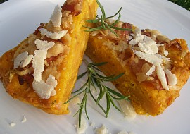 Slaninovo  parmazánový dýňový koláč recept