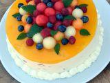 Pestrobarevný melounový dort recept