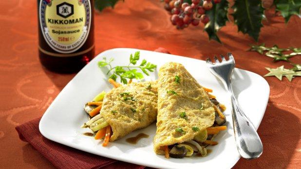 Pestré mini omelety