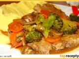 Plátky krkovice se zeleninou recept