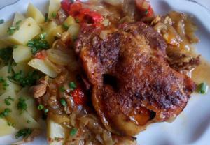 Kuře na paprice  pečené