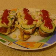 Vaječné topinky se sýrem a zeleninou recept