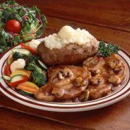 Česnekové medailonky s houbami recept