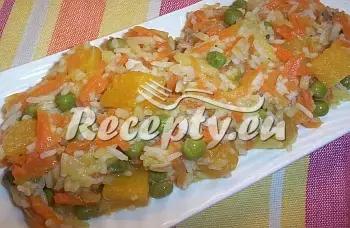 Rýže se zeleninou a dýní recept  recepty pro děti